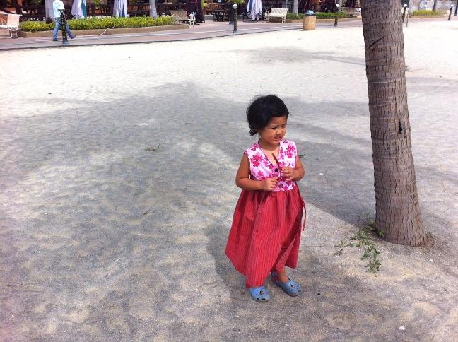 Little one facing the beach