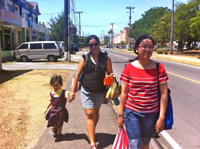 Walking in the heat