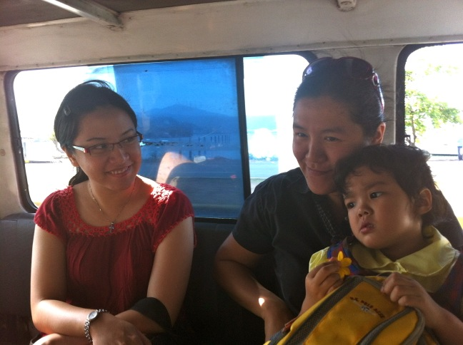 In the small bus
