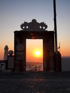 Door with Sunset