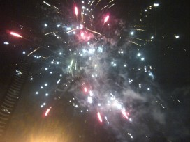 More fireworks, intermittently