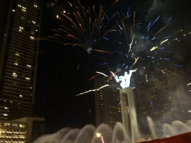Bright cheerful flashes of fireworks!
