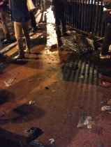 The end result. And that, my friends, is a capture of dirty street that night. It was like that all over Sudirman haha. Happy New Year!