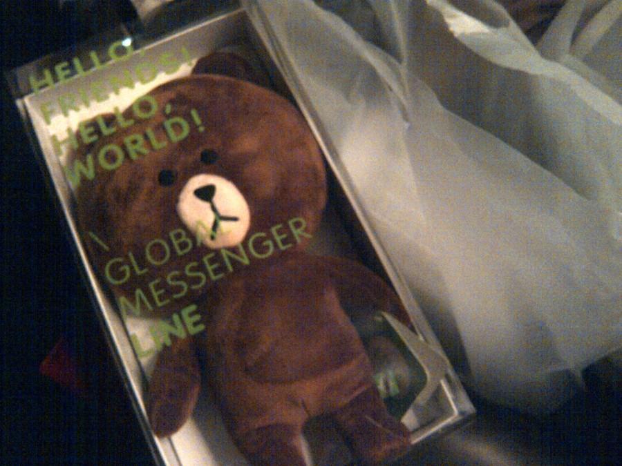 Brown, free gift/goodie bag LINE yang saya pilih