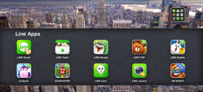 Line Apps di iPad saya