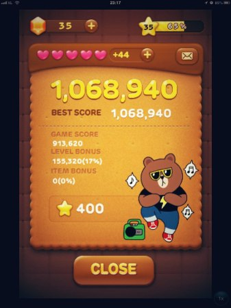 My New High Score in LINE Pop