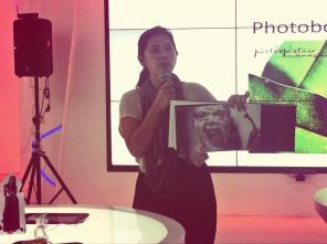 Mbak Sasha showing one of her photobook