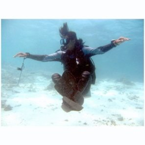 This is to test if you're mastering your buoyancy or not, picture from Aditya's collection