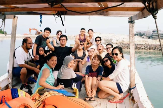 On the way to snorkeling from Tidung Island, picture from Arief's album