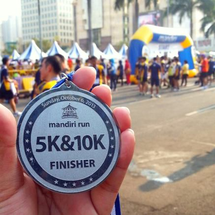 Finisher Medal (5K) from Mandiri Run, my first medal ever!