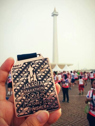 Medali dari Mandiri Jakarta Marathon