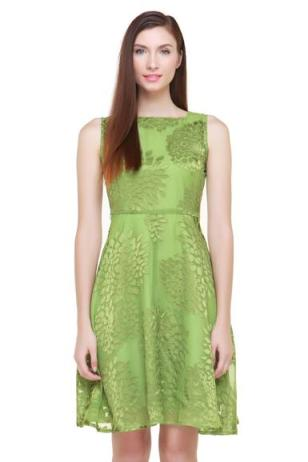 Green Petal Dress