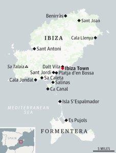 Peta Ibiza dan Formentera