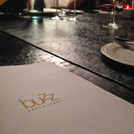 Buzz Restaurant on the menu