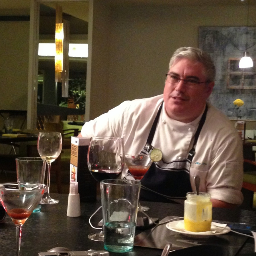 Chef Alex Ensor, chatting with us