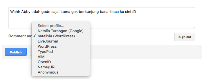 #JuliNgeblog Komentar di Blogspot dengan ID WordPress 03